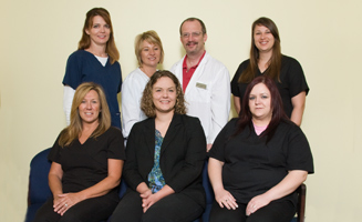 ee4b043169 South County Eye Care Office South County Eye Care Staff with Dr. Becker.  In St. Louis ...